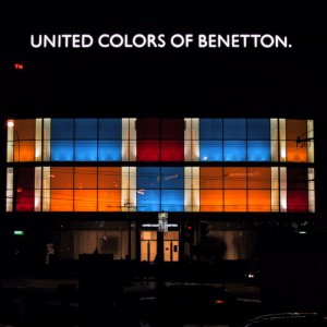 IIlluminazione facciata negozio Benetton - Mosca (RU)